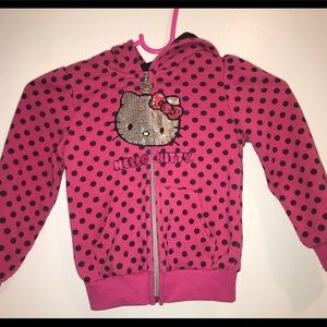 Hello kitty zip up sweater with hoodie